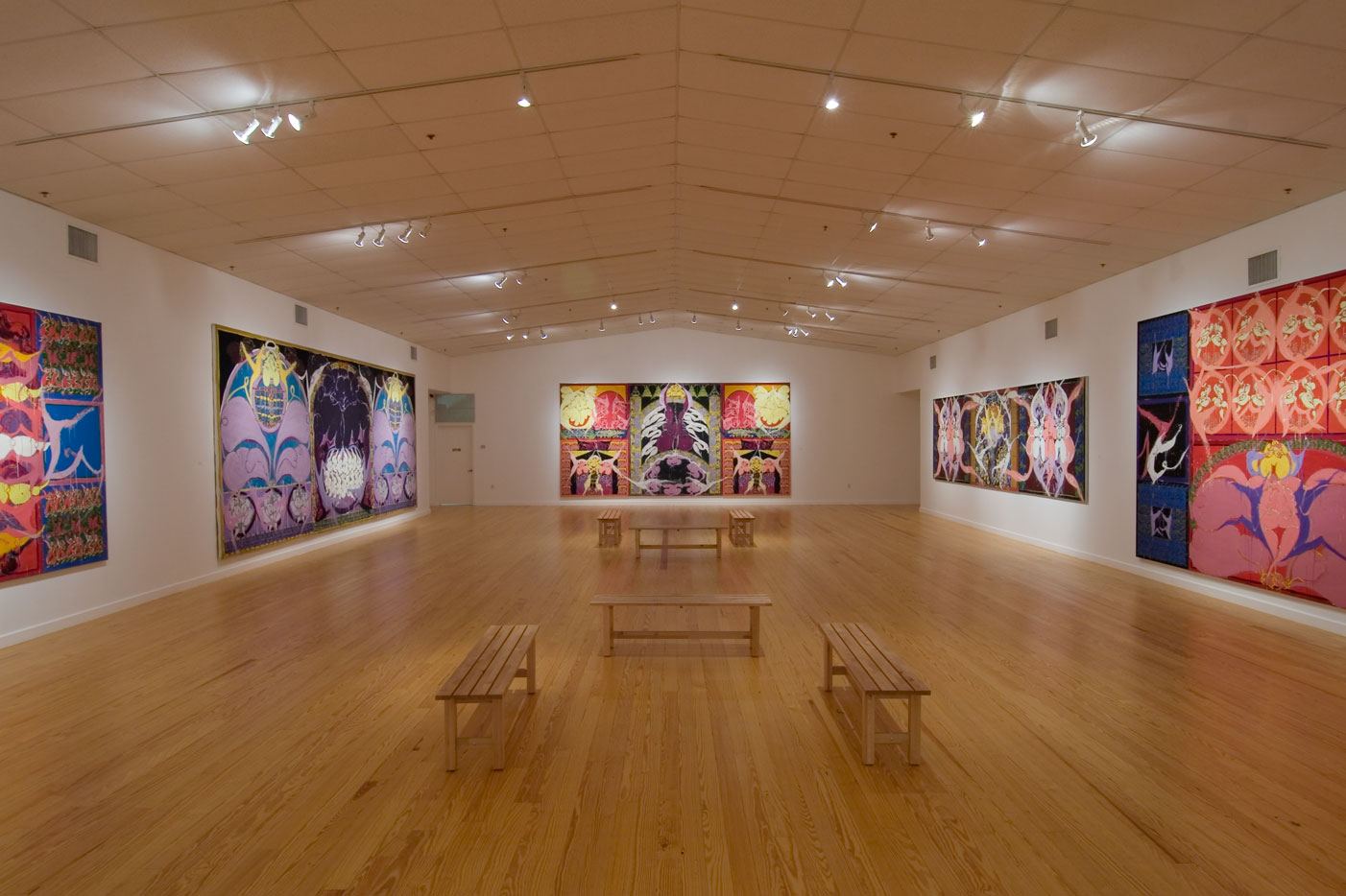 the late paintings of Norman Bluhm, Installation view Station Museum of Contemporary Art, 2007