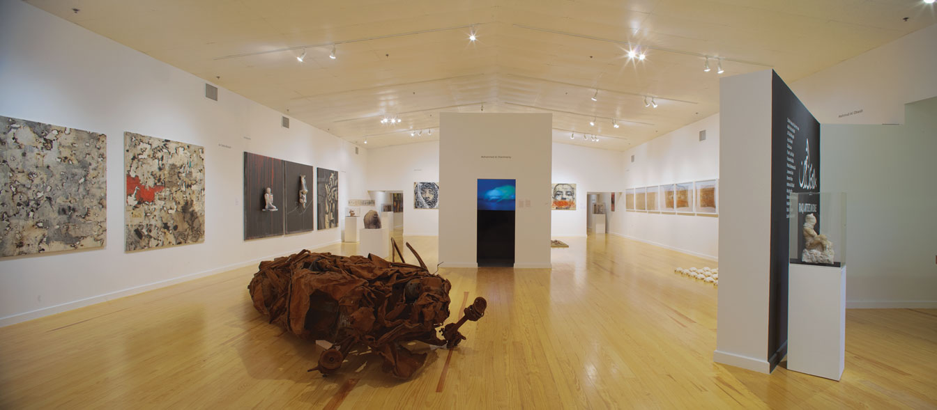"""""""Iraqi Artists in Exile"""", Installation view Station Museum of Contemporary Art, 2009"""