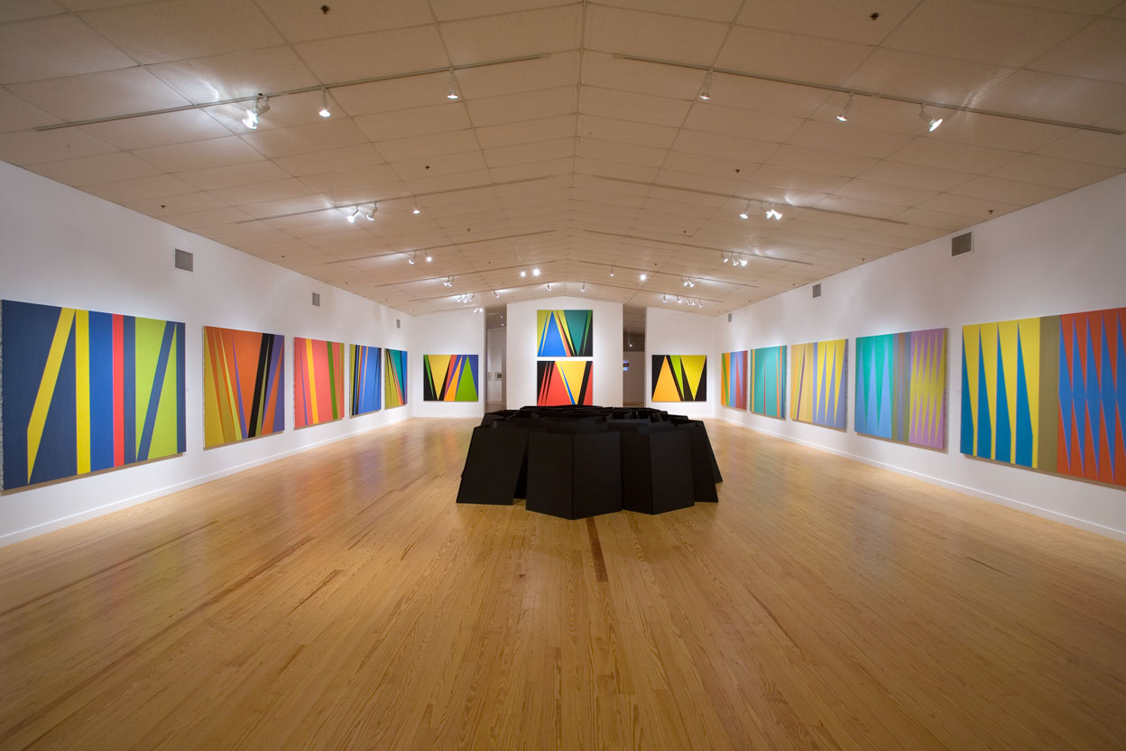 Installation view of James Little's paintings and George Smith's sculpture, Station Museum of Contemporary Art, 2007