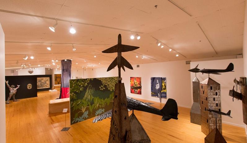 """Noah Edmundson, """"City-Scape"""", 2016, Metal installation"""