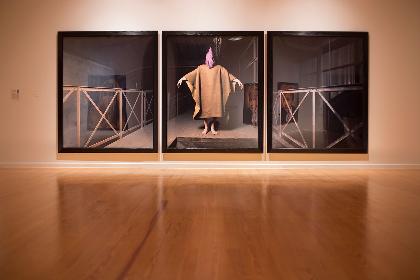 "Andres Serrano, ""Untitled X-1 / Untitled X-2 / Untitled X-3"", chromogenic print, dibond mounted, plexiglass, wooden frame, Each panel 88 x 72 inches, Ed. 1/1 + 2AP"