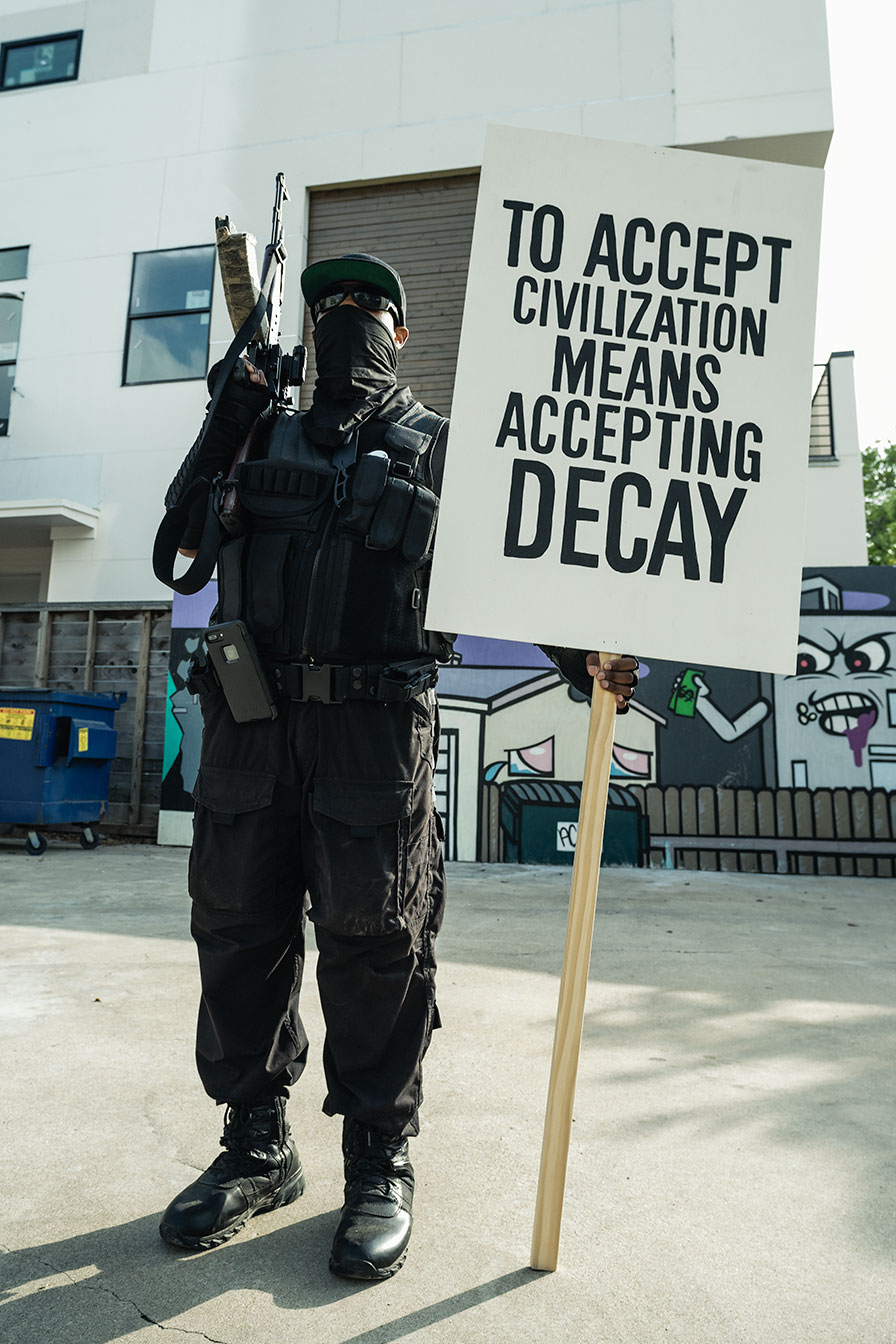 "DEMOCRACIA, ""To accept civilization means accepting decay"""